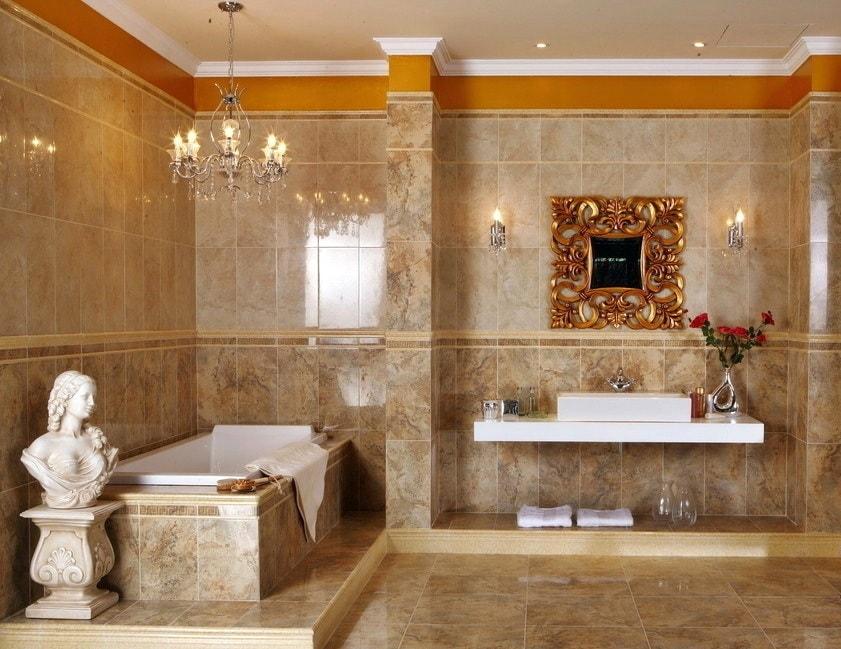 Дизайн ванной в римском стиле