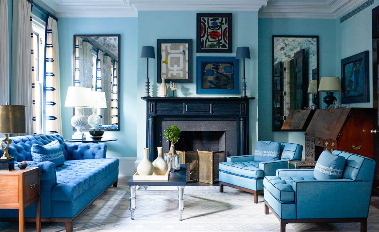 Голубой цвет психология цвета в интерьере
