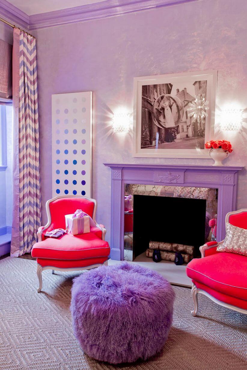 Как сочетать фиолетовый цвет в интерьере фото