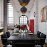 Дизайн интерьера в индустриальном стиле - фото (13)