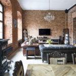 Дизайн интерьера в индустриальном стиле - фото (31)