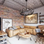 Дизайн интерьера в индустриальном стиле - фото (36)