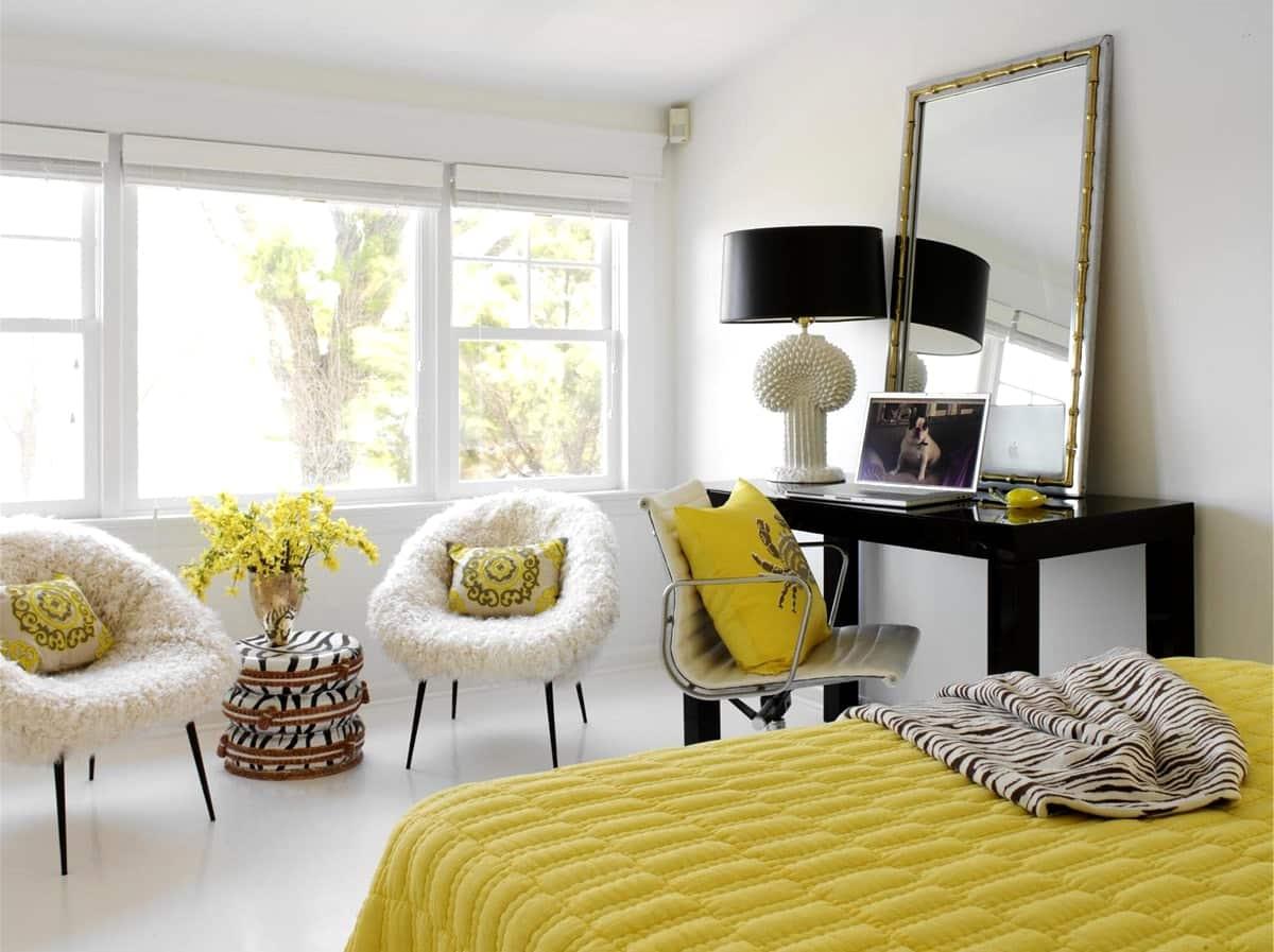 Мебель и цветовые акценты в стиле контемпорари