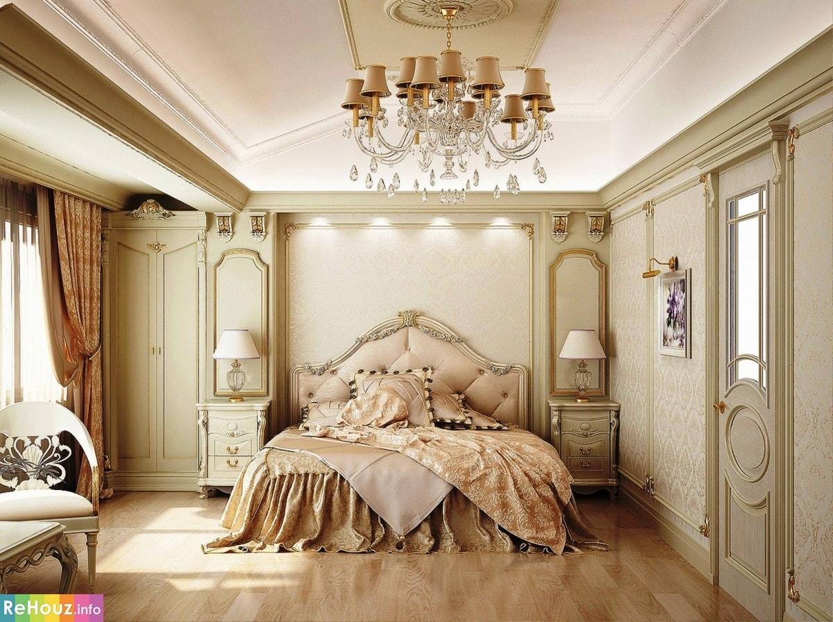 Классический стиль в спальной