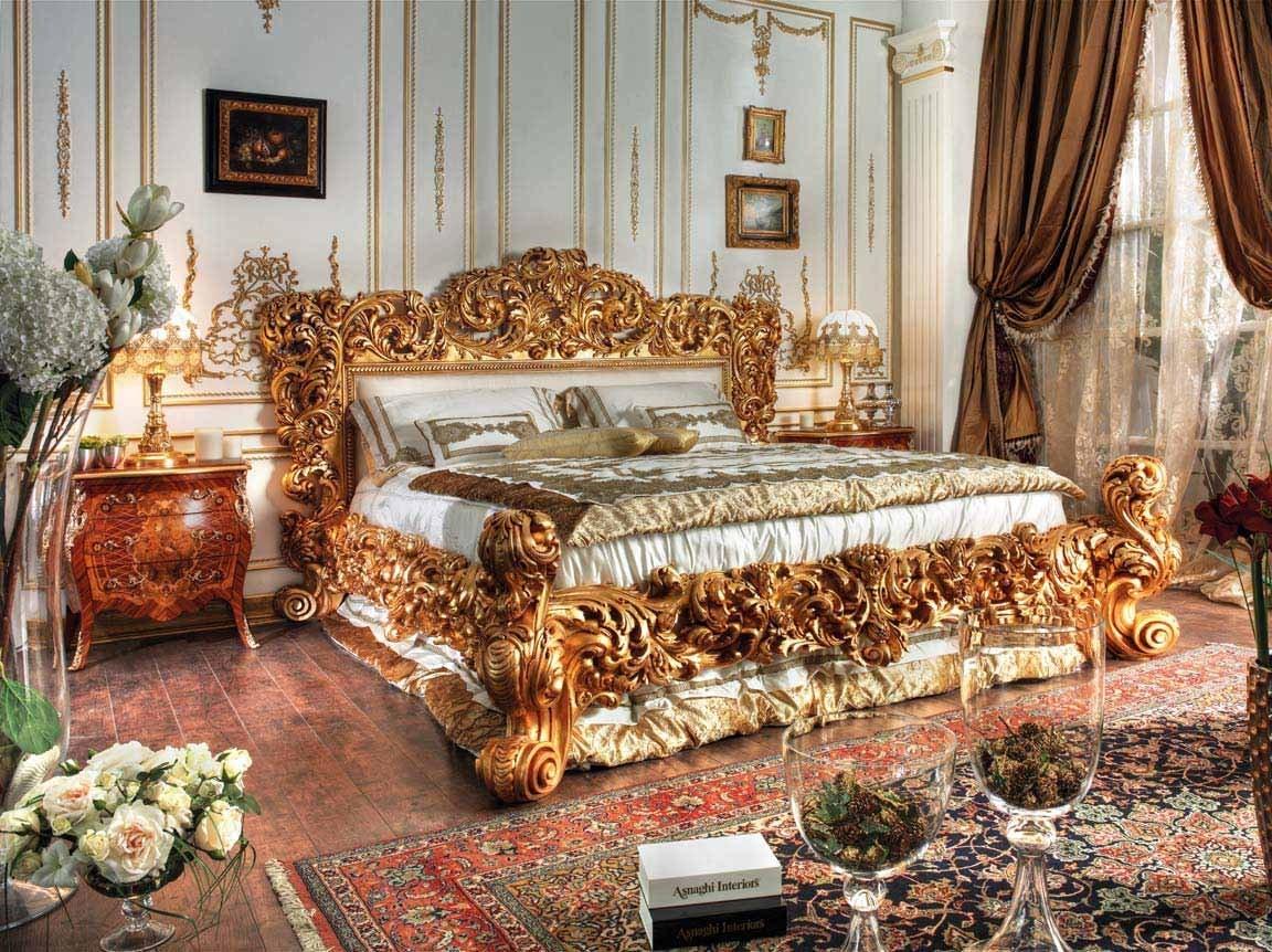 барокко в интерьере спальной