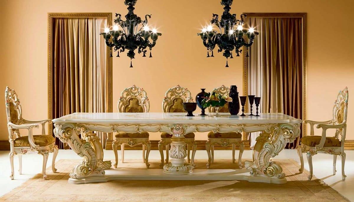 барокко в интерьере столовой