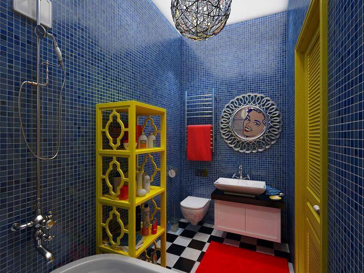 ванная в стиле поп-арт фото