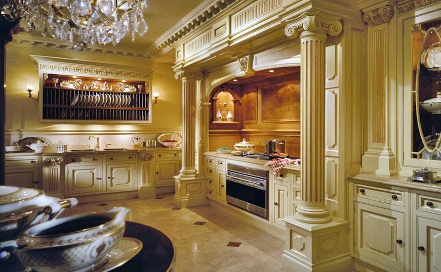 Античный стиль в интерьере кухни