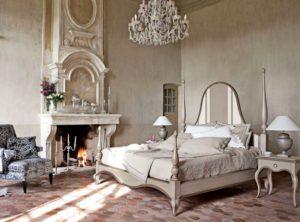 Античный стиль в интерьере спальной фото