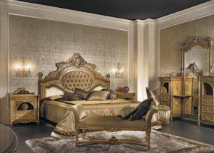 Античный стиль в интерьере спальной