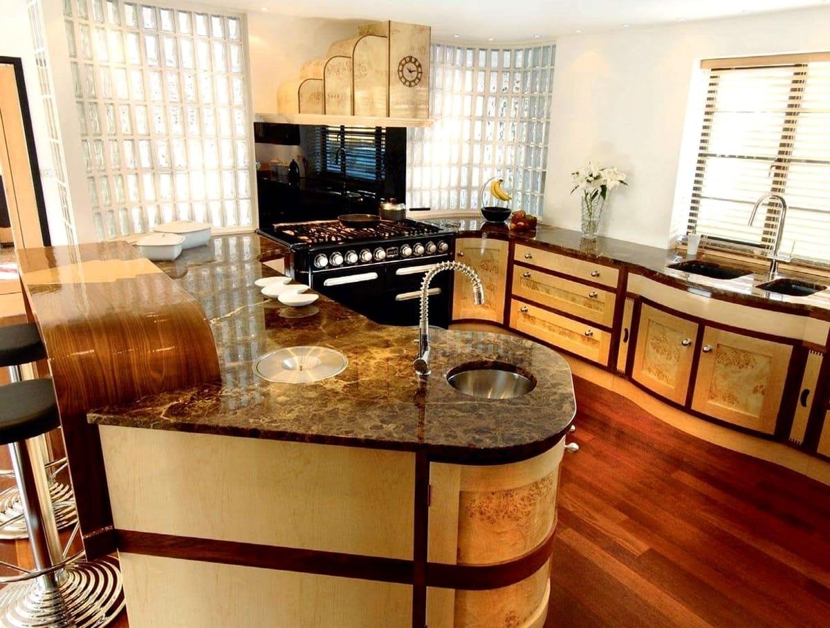 ар-деко в интерьере кухни