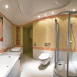 Поп-арт в интерьере ванной комнаты фото