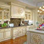 Барокко в интерьере кухни фото