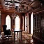 Готический стиль в интерьере кабинета фото