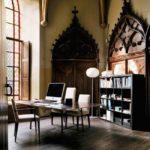 Готический стиль в интерьере кабинета