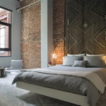 Дизайн интерьера спальни в стиле лофт - фото (3)