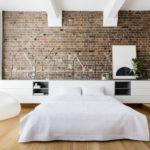 Дизайн интерьера спальни в стиле лофт - фото (4)