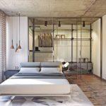 Дизайн интерьера спальни в стиле лофт - фото (5)