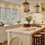 Дизайн кухни в стиле шебби шик - фото