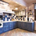 Дизайн кухни в стиле шебби шик - фото (5)