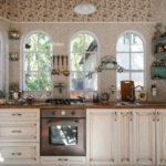 Дизайн кухни в стиле шебби шик - фото (6)