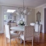 Дизайн столовой зоны в стиле шебби шик - фото
