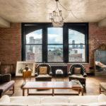 Интерьер гостиной в стиле лофт - фото (4)