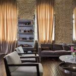 Интерьер гостиной в стиле лофт - фото (6)