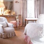 Текстильное оформление интерьера в стиле шебби шик