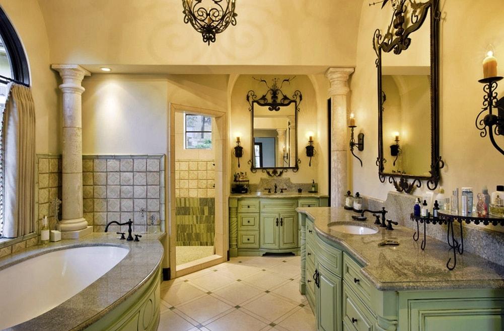 Стиль ренессанс в интерьере ванной комнаты фото
