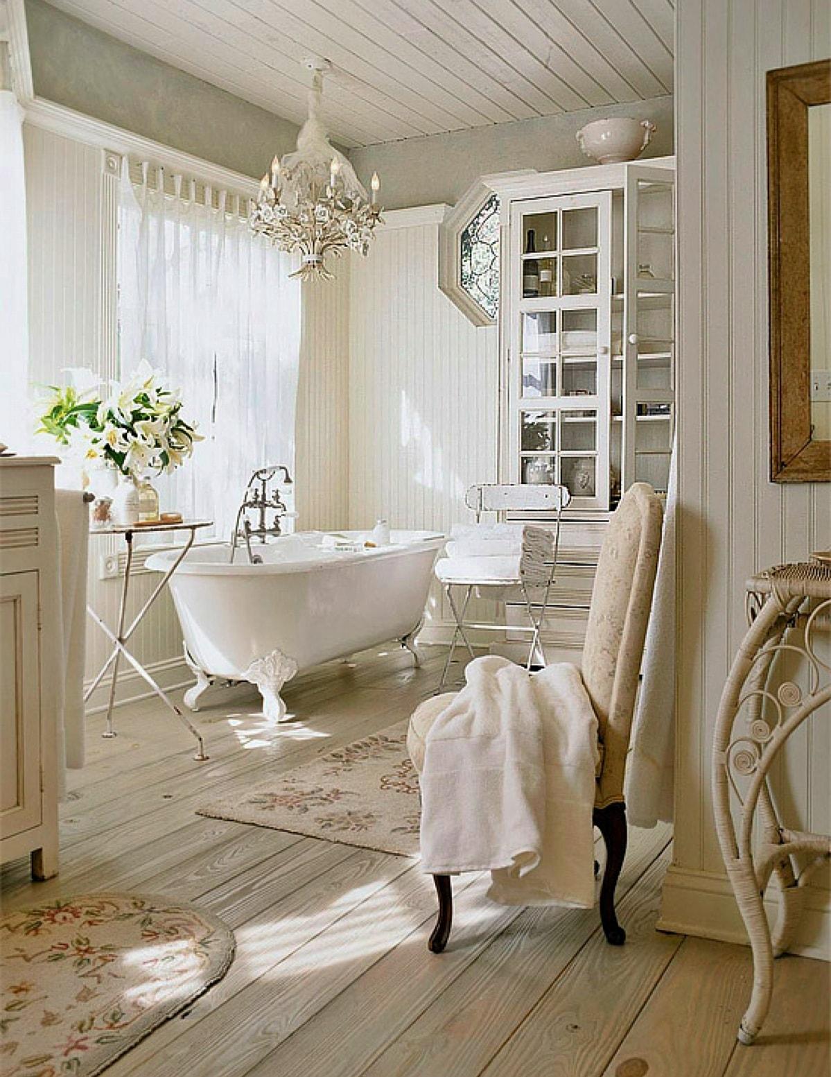Романтизм в интерьере ванной комнаты
