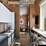 Стиль лофт в интерьере кухни фото 3