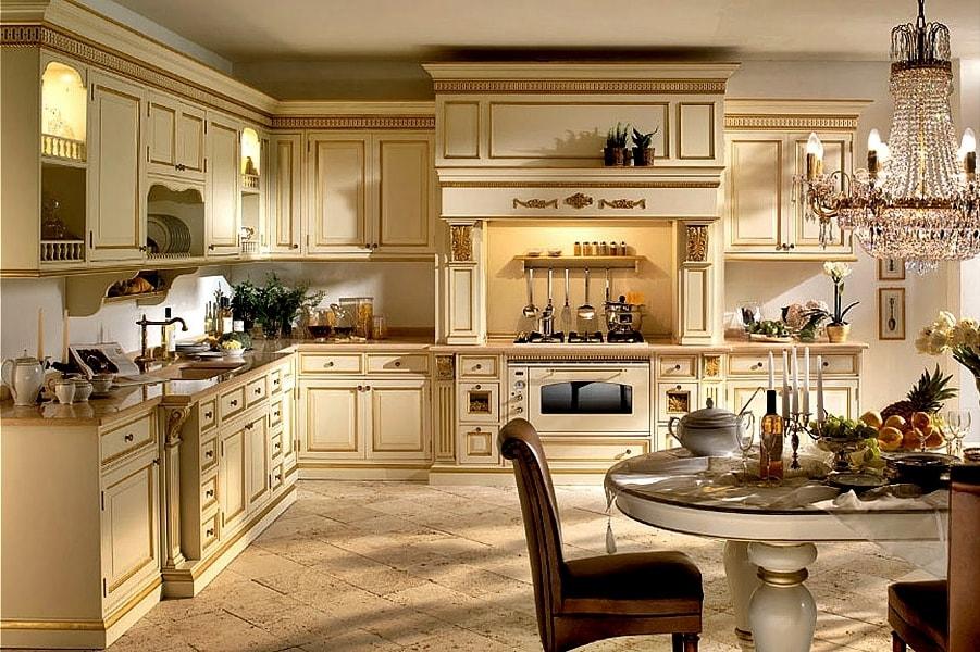 Стиль ренессанс в интерьере кухни фото