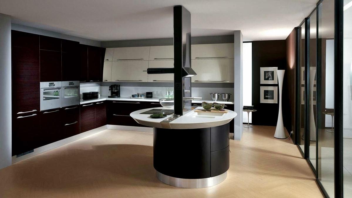 Хай-тек в интерьере кухни фото