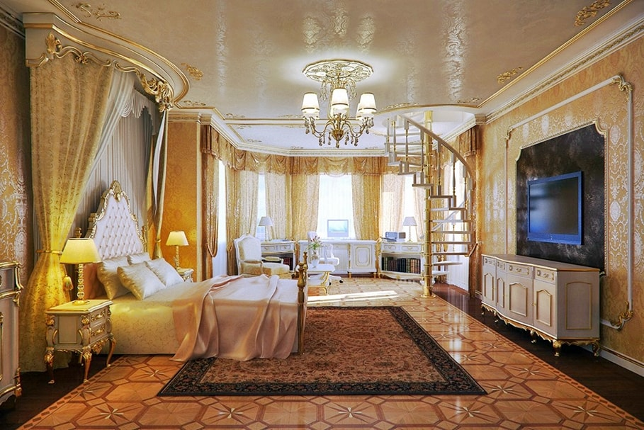 Стиль ренессанс в интерьере спальной комнаты