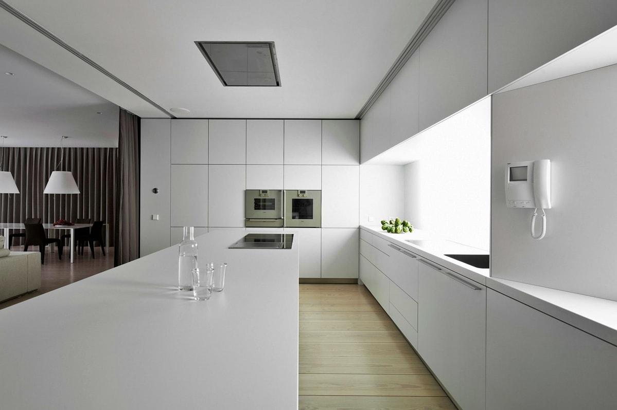 Минимализм в интерьере кухни фото