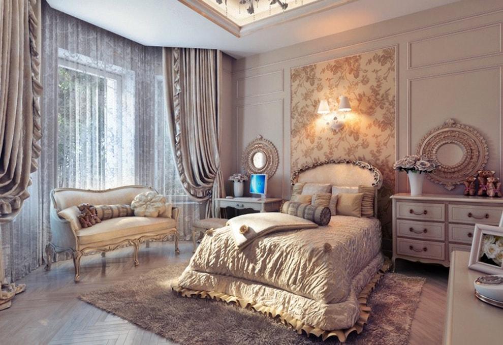 Романтизм в интерьере спальной
