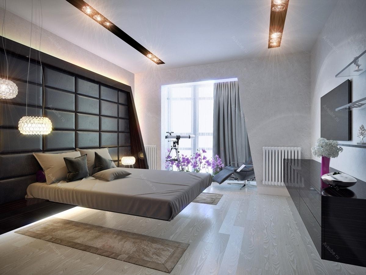 Хай-тек в интерьере спальни