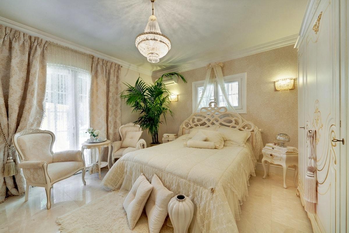 Романтизм в интерьере спальной комнаты фото