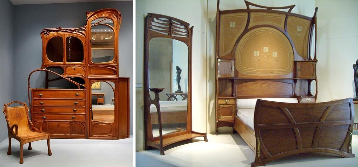 Мебель в стиле арт-нуво фото