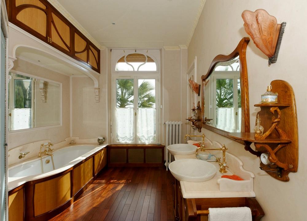 стиль арт-нуво в интерьере ванной