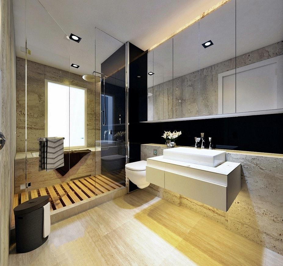 Стиль баухауз в интерьере ванной