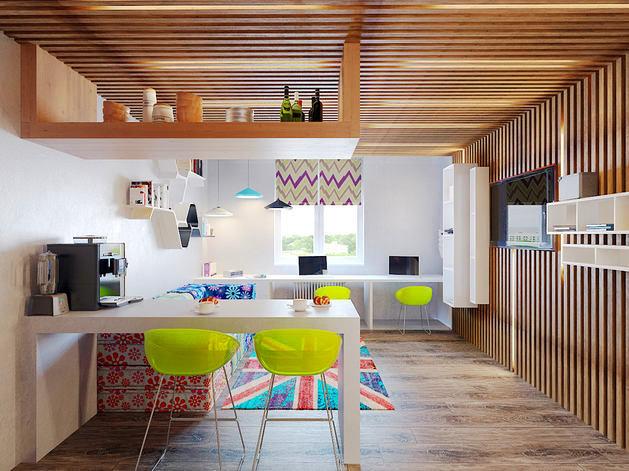 Стиль авангард в интерьере кухни