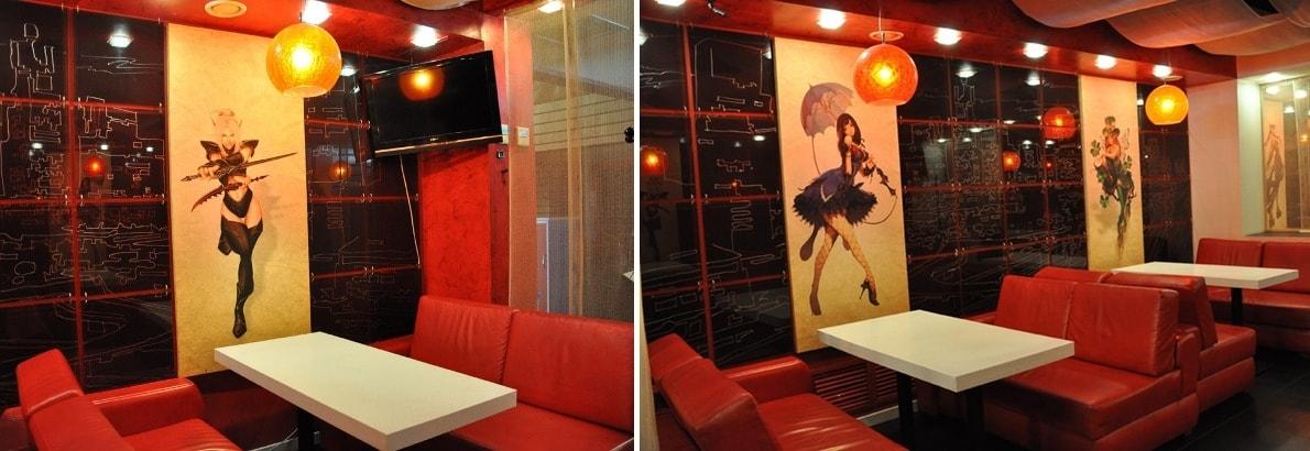 Стиль манга в интерьере кафе фото