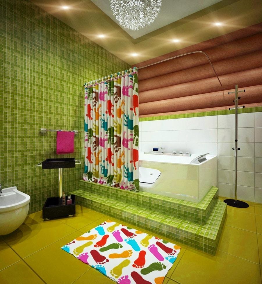 стиль авангард в интерьере ванной