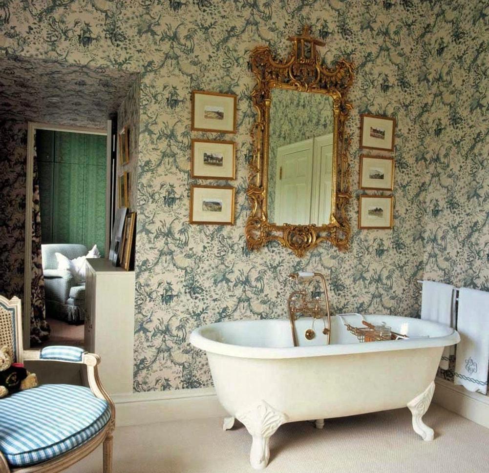 Викторианский стиль в интерьере ванной комнаты