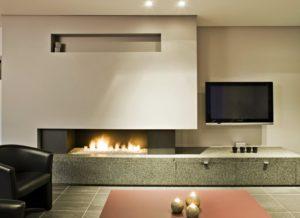 Газовый камин в квартире 1