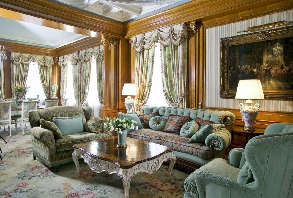 Викторианский стиль в интерьере гостиной