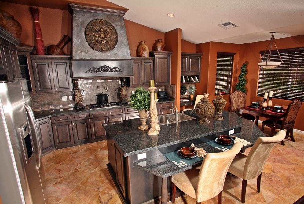 Викторианский стиль в интерьере кухни
