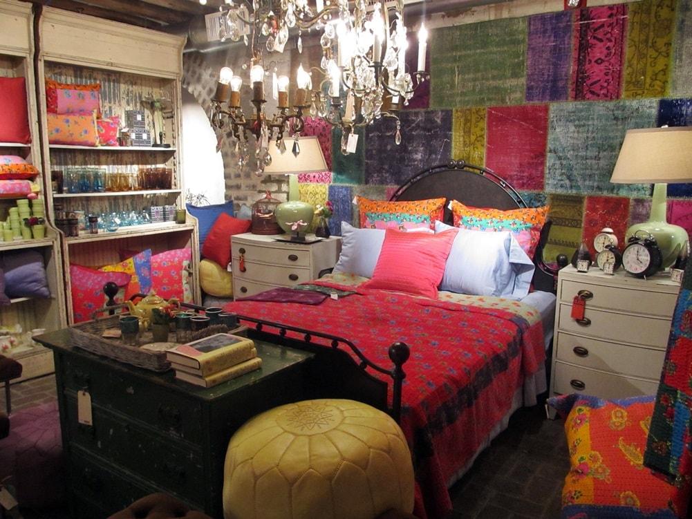 Спальная комната в стиле бохо фото